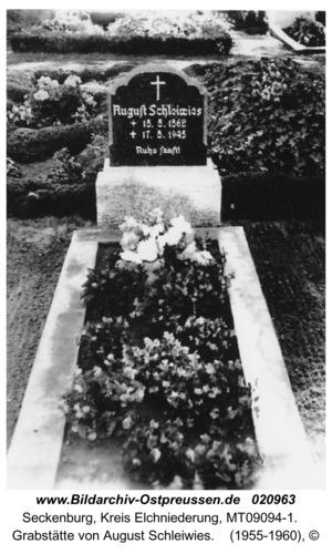 Seckenburg, Grabstätte von August Schleiwies