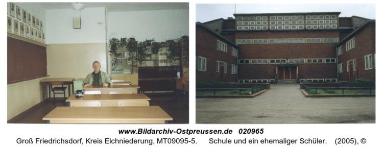 Groß Friedrichsdorf, Schule und ein ehemaliger Schüler