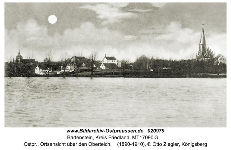 Bartenstein, Ostpr., Ortsansicht über den Oberteich