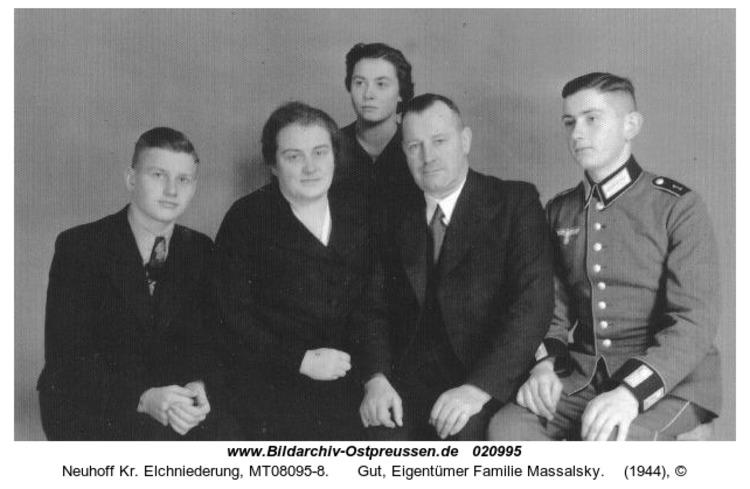 Neuhoff Kr. Elchniederung, Gut, Eigentümer Familie Massalsky