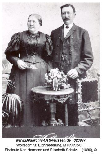 Wolfsdorf, Eheleute Karl Hermann und Elisabeth Schulz