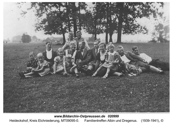 Heideckshof, Familientreffen Albin und Dregenus