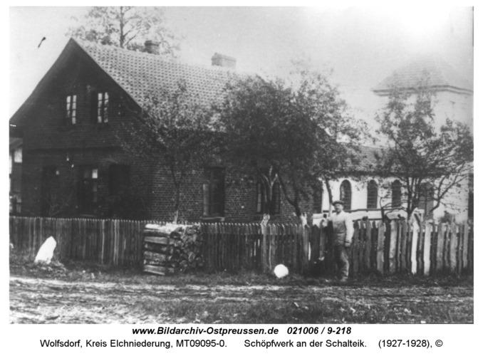 Wolfsdorf, Schöpfwerk an der Schalteik