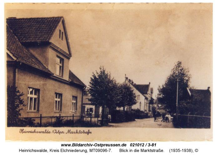 Heinrichswalde, Blick in die Marktstraße