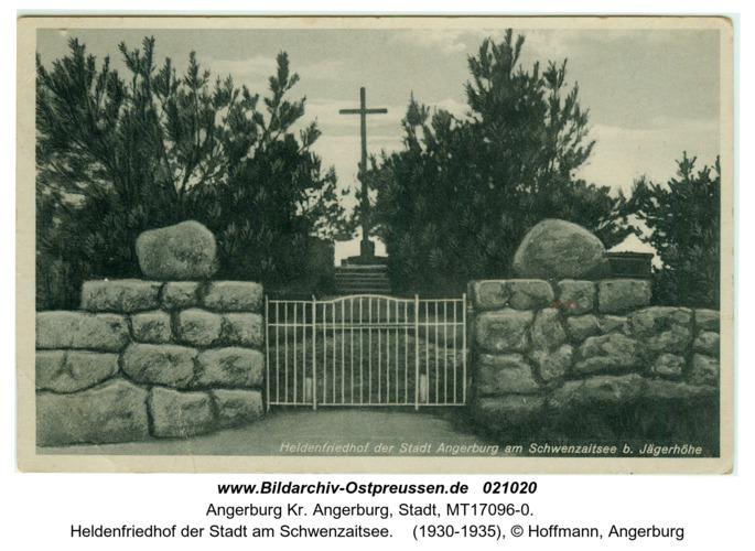 Stadt Angerburg, Heldenfriedhof der Stadt am Schwenzaitsee