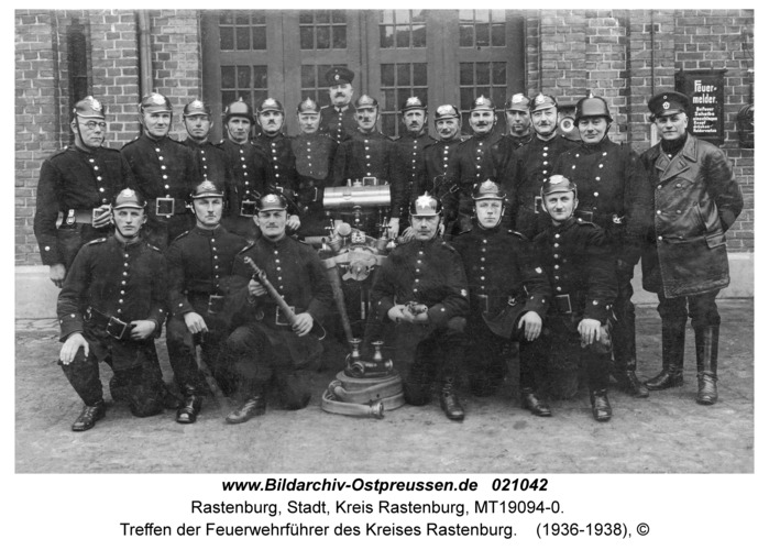 Rastenburg, Treffen der Feuerwehrführer des Kreises Rastenburg