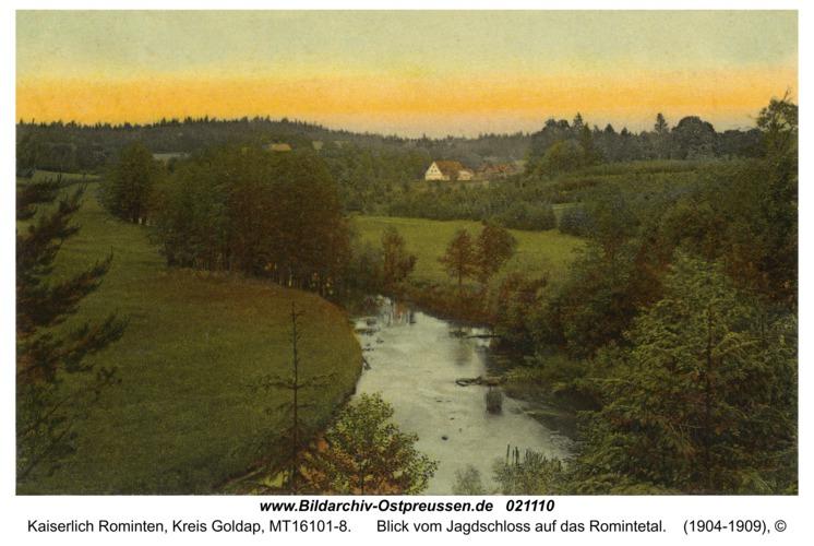 Jagdhaus Rominten, Blick vom Jagdschloss auf das Romintetal