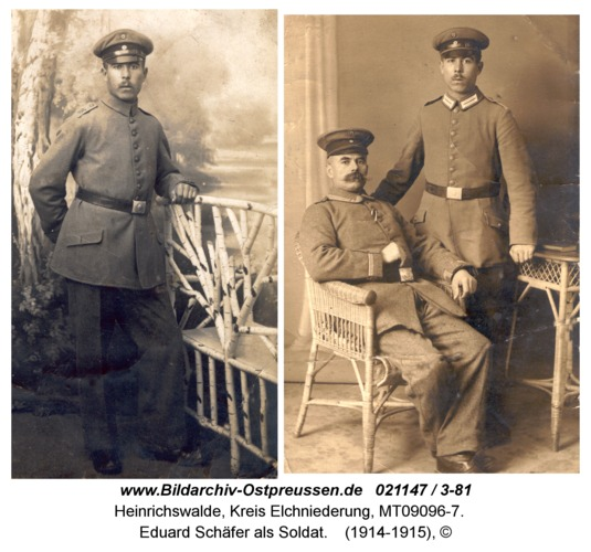 Heinrichswalde, Eduard Schäfer als Soldat