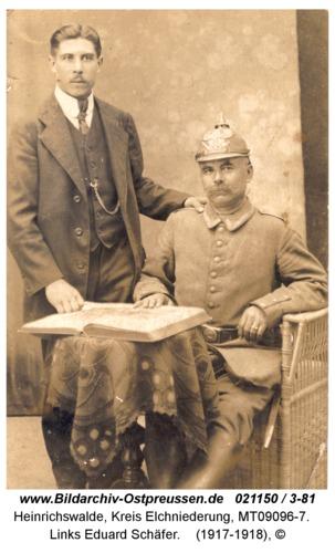 Heinrichswalde, links Eduard Schäfer