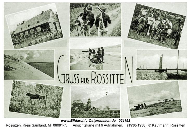 Rossitten Kr. Samland, Ansichtskarte mit 9 Aufnahmen