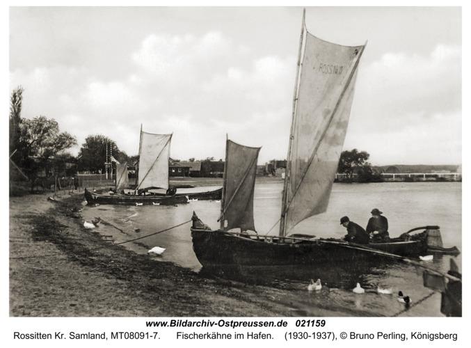 Rossitten Kr. Samland, Fischerkähne im Hafen