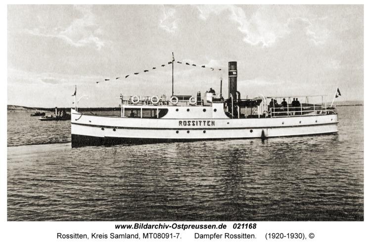 Rossitten Kr. Samland, Dampfer Rossitten