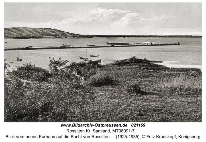 Rossitten Kr. Samland, Blick vom neuen Kurhaus auf die Bucht von Rossitten
