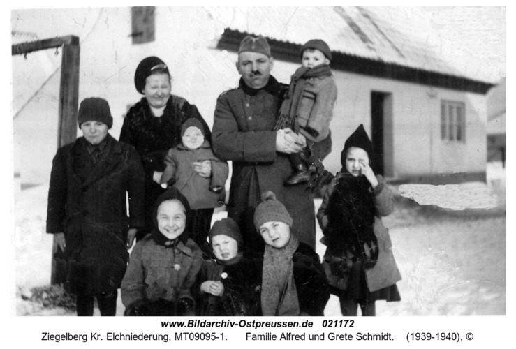 Ziegelberg, Familie Alfred und Grete Schmidt