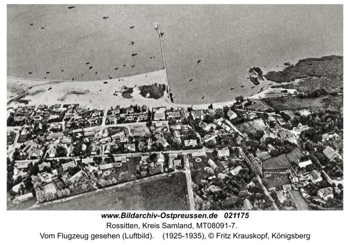 Rossitten Kr. Samland, Vom Flugzeug gesehen (Luftbild)