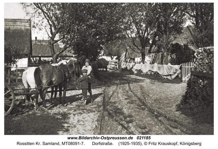 Rossitten Kr. Samland, Dorfstraße