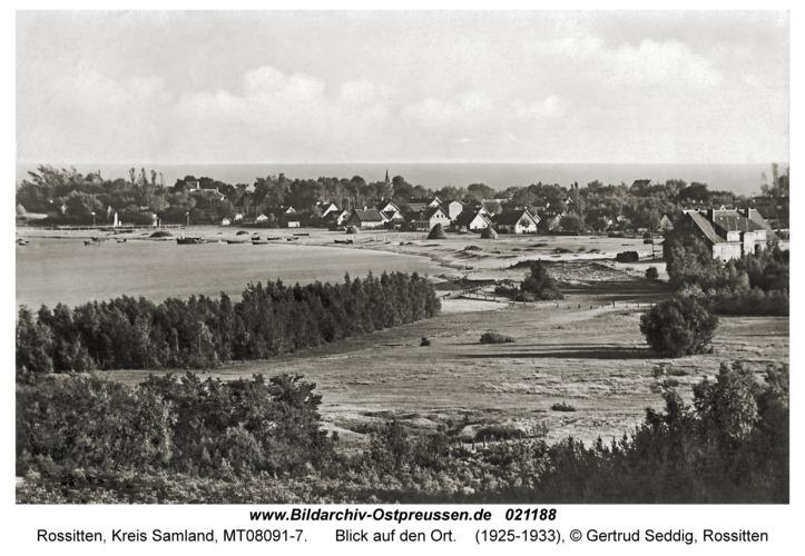 Rossitten Kr. Samland, Blick auf den Ort