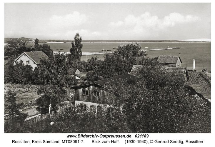Rossitten Kr. Samland, Blick zum Haff