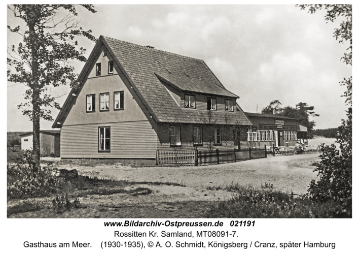 Rossitten Kr. Samland, Gasthaus am Meer