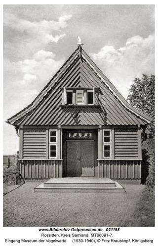 Rossitten Kr. Samland, Eingang Museum der Vogelwarte