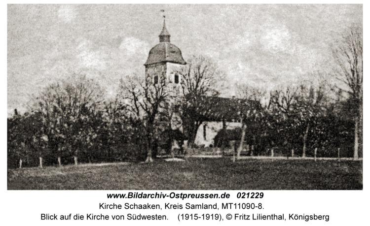 Kirche Schaaken, Blick auf die Kirche von Südwesten