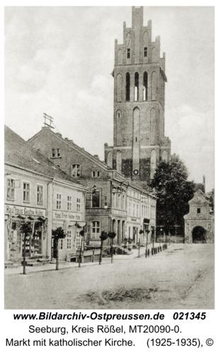 Seeburg, Markt mit katholischer Kirche