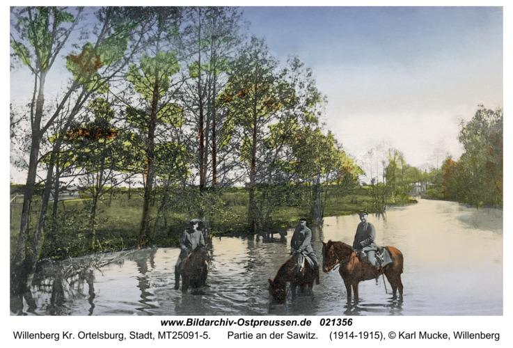 Willenberg Kr. Ortelsburg, Partie an der Sawitz