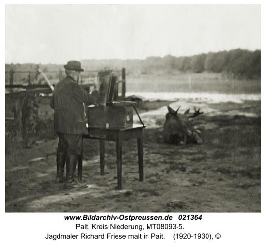Pait, Jagdmaler Richard Friese malt in Pait