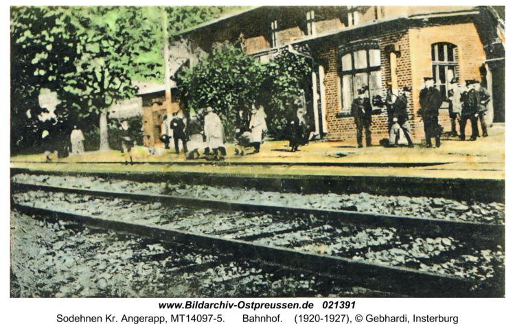Sodehnen Kr. Angerapp, Bahnhof