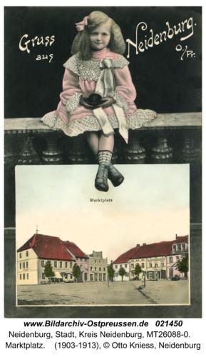 Neidenburg, Marktplatz
