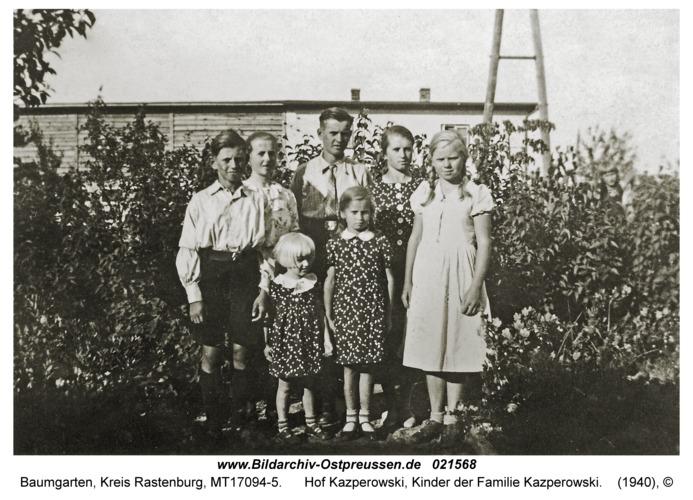 Baumgarten Kr. Rastenburg, Hof Kazperowski, Kinder der Familie Kazperowski