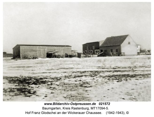 Baumgarten Kr. Rastenburg, Hof Franz Glodschei an der Wickerauer Chaussee