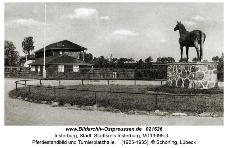 Insterburg, Pferdestandbild und Turnierplatzhalle