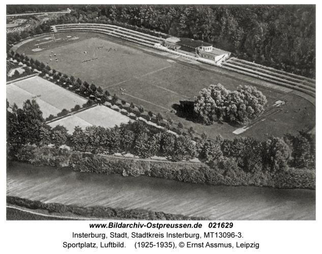 Insterburg, Sportplatz, Luftbild