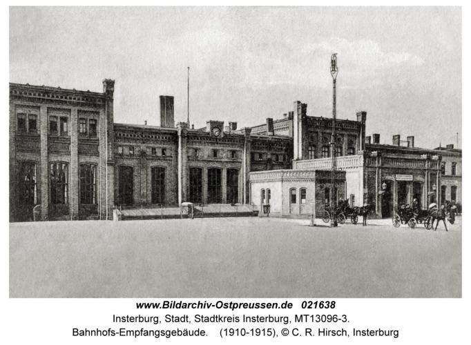 Insterburg, Bahnhofs-Empfangsgebäude