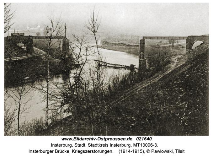 Insterburg, Insterburger Brücke, Kriegszerstörungen