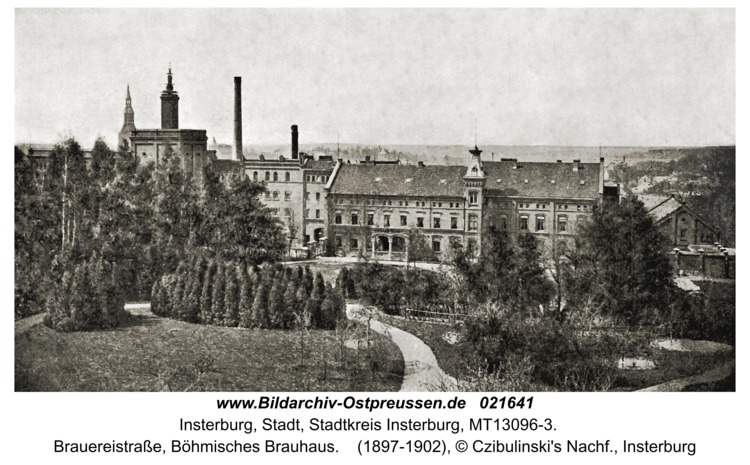 Insterburg, Brauereistraße, Böhmisches Brauhaus