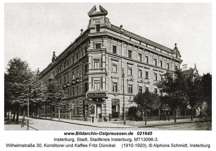 Insterburg, Wilhelmstraße 30, Konditorei und Kaffee Fritz Dünckel
