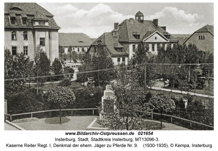 Insterburg, Kaserne Reiter Regt. I, Denkmal der ehem. Jäger zu Pferde Nr. 9