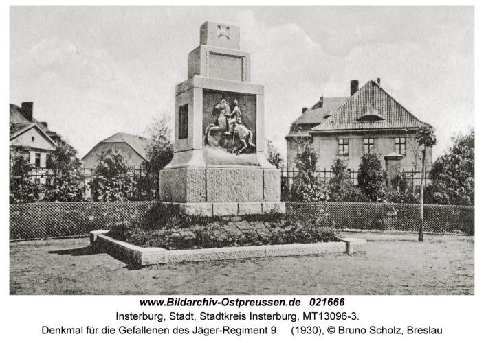 Insterburg, Denkmal für die Gefallenen des Jäger-Regiment 9