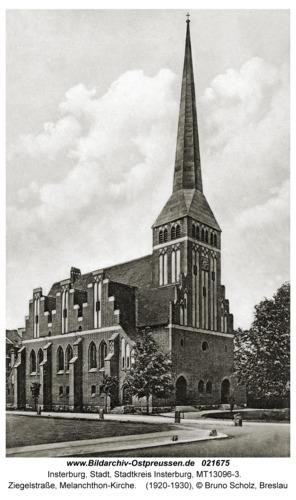 Insterburg, Ziegelstraße, Melanchthon-Kirche