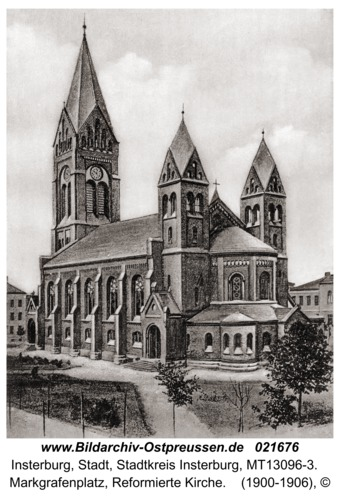 Insterburg, Markgrafenplatz, Reformierte Kirche