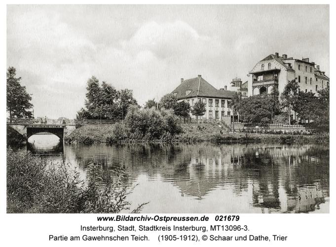 Insterburg, Partie am Gawehnschen Teich