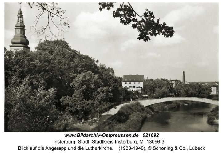 Insterburg, Blick auf die Angerapp und die Lutherkirche