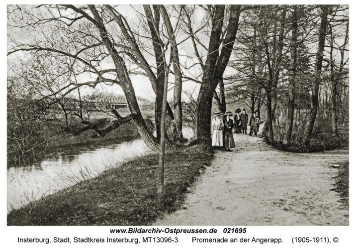 Insterburg, Promenade an der Angerapp