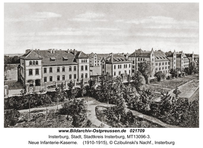 Insterburg, Neue Infanterie-Kaserne