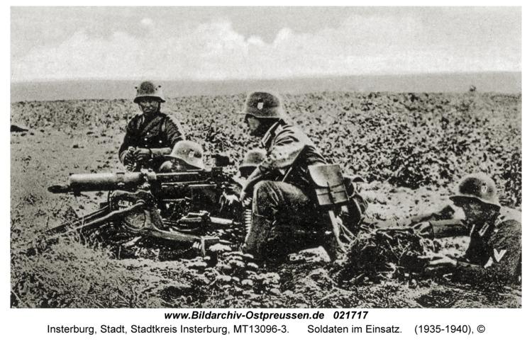 Insterburg, Soldaten im Einsatz