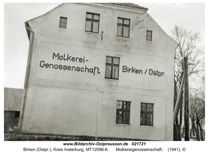 Birken (Ostpr.), Molkereigenossenschaft