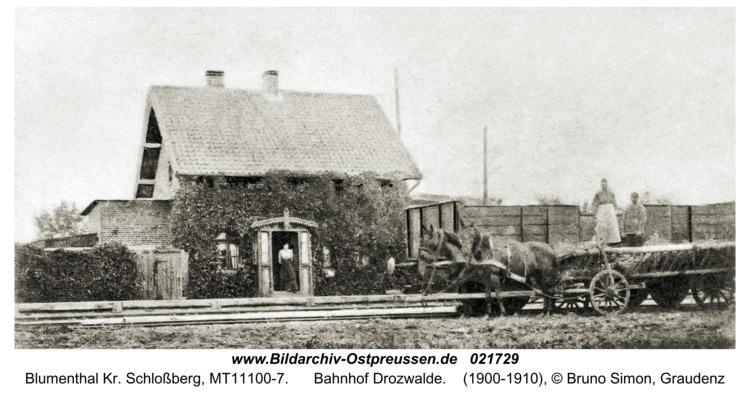 Blumenthal Kr. Schloßberg, Bahnhof Drozwalde