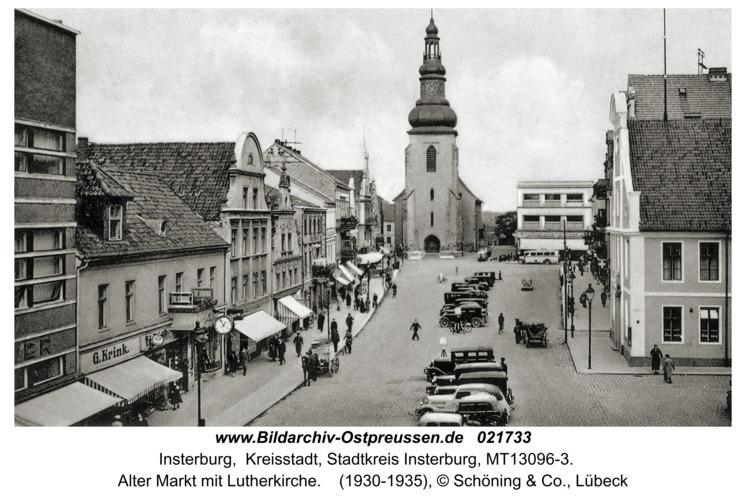 Insterburg, Alter Markt mit Lutherkirche
